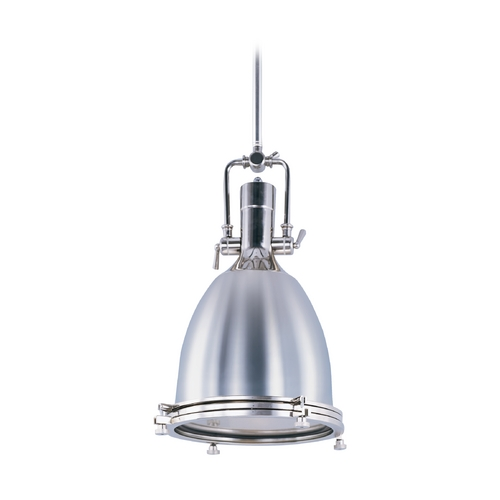 Maxim Lighting Maxim Lighting Hi-Bay Polished Nickel Pendant Light with Bowl / Dome Shade 25104FTPN