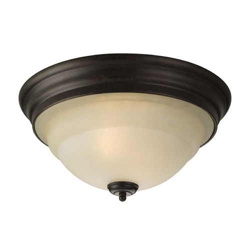 Progress Lighting Progress Flushmount Light in Forged Bronze Finish P3184-77