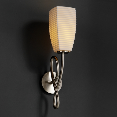 Justice Design Group Justice Design Group Limoges Collection Sconce POR-8911-65-SAWT-NCKL