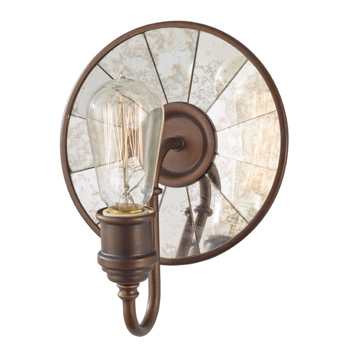 Feiss Lighting Sconce Wall Light in Astral Bronze Finish WB1701ASTB