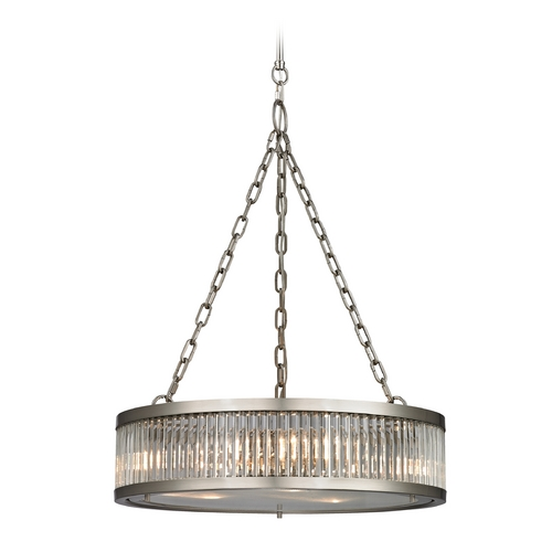 Elk Lighting Pendant Light in Brushed Nickel Finish 46115/3