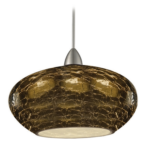 WAC Lighting Wac Lighting Artisan Collection Brushed Nickel LED Mini-Pendant with Bowl / Dome Sh MP-LED534-SM/BN
