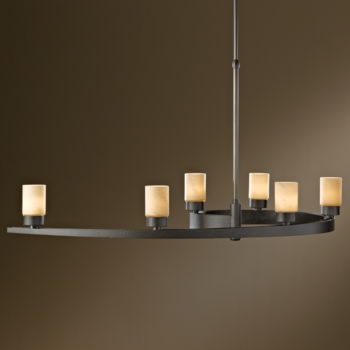 Hubbardton Forge Lighting Hubbardton Forge Lighting Eddy Dark Smoke Pendant Light with Cylindrical Shade 137570-07-H261