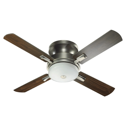 Quorum Lighting Quorum Lighting Davenport Antique Silver Ceiling Fan with Light 65524-92