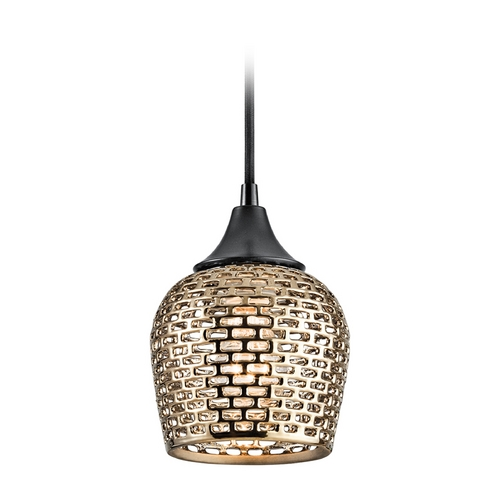 Kichler Lighting Kichler Lighting Annata Black Mini-Pendant Light 43489BKGLD