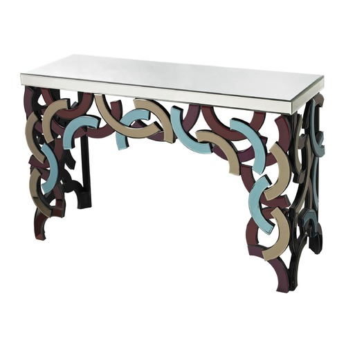 Sterling Lighting Colored Glass Console 114-69
