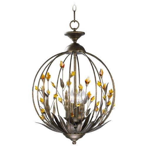 Cyan Design Cyan Design Autumn Dusk with Amber Pendant Light 01193