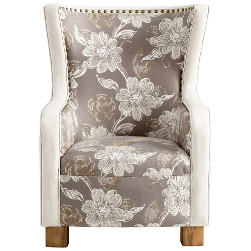 Cyan Design Cyan Design J. P. Buttercup Grey & Patterned Fabric Chair 05560