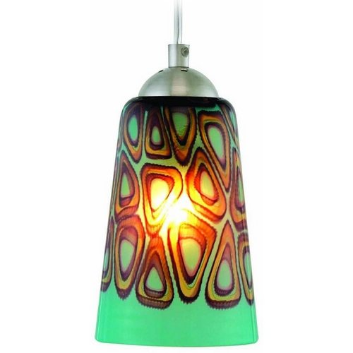 Oggetti Lighting Oggetti Lighting Carnivale Satin Nickel Mini-Pendant Light with Cylindrical Shade 22-210A