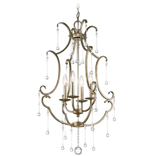 Kichler Lighting Kichler Shelsley 4-Light Mini Chandelier in Sterling Gold 43619SGD