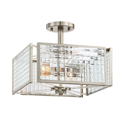 Designers Fountain Lighting Designers Fountain Pivot Satin Platinum Semi-Flushmount Light 88811-SP