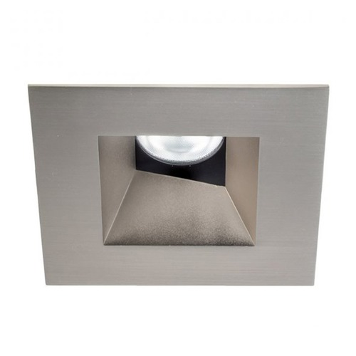 WAC Lighting WAC Lighting Square Brushed Nickel 3.5-Inch LED Recessed Trim 3000K 1065LM 18 Degree HR3LEDT518PS930BN