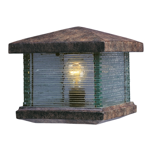 Maxim Lighting Post Deck Light with Clear Glass in Earth Tone Finish 48736CLET