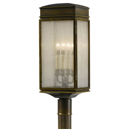 Feiss Lighting Post Light with Clear Glass in Astral Bronze Finish OL7407ASTB