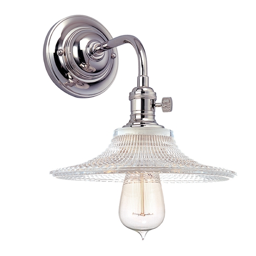 Hudson Valley Lighting Sconce Wall Light with Clear Glass in Polished Nickel Finish 8000-PN-GS6