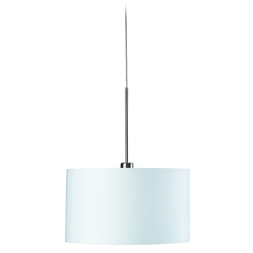 Philips Lighting Modern Pendant Light with White Shade in Matte Chrome Finish 362751748