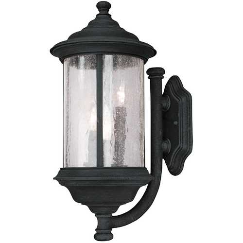 Dolan Designs Lighting Seeded Glass Outdoor Wall Light Black 19-Inch Dolan Designs 917-50