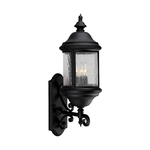 Progress Lighting Progress Outdoor Wall Light with Clear Glass in Textured Black Finish P5652-31