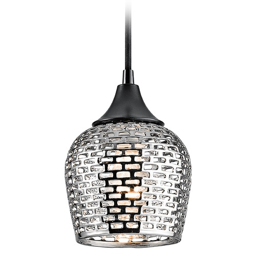 Kichler Lighting Kichler Lighting Annata Black Mini-Pendant Light 43489BKSLV