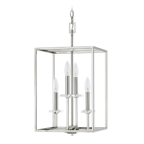 Capital Lighting Capital Lighting Morgan Polished Nickel Pendant Light 7001PN
