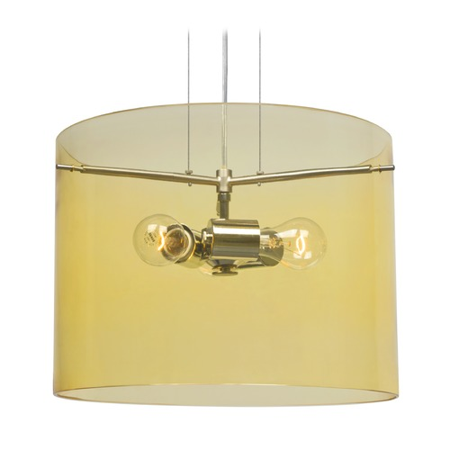 Besa Lighting Besa Lighting Pahu Satin Nickel Pendant Light with Drum Shade 1KG-Y00707-SN-NI