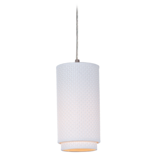 ET2 Lighting Modern Mini-Pendant Light with White Shade E95140-100SN