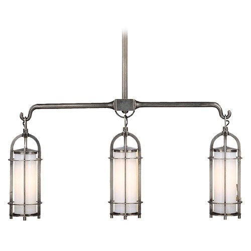 Hudson Valley Lighting Island Light with White Glass in Historic Nickel Finish 8533-HN