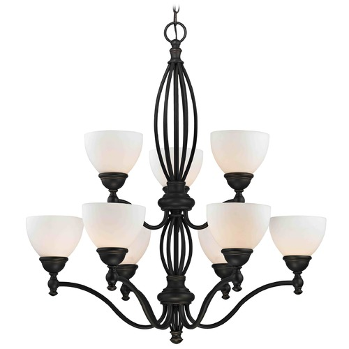 Design Classics Lighting Satin White Glass Traditional Chandelier - Bolivian Finish 2922-78 GL1033-WH