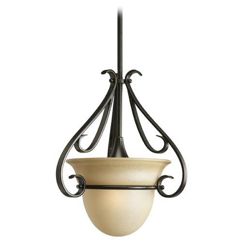 Progress Lighting Progress Pendant Light with Beige / Cream Glass P5144-77