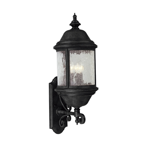 Progress Lighting Progress Outdoor Wall Light with Clear Glass in Textured Black Finish P5653-31