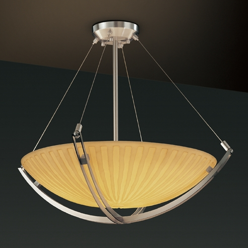 Justice Design Group Justice Design Group Porcelina Collection Pendant Light PNA-9722-35-WFAL-NCKL
