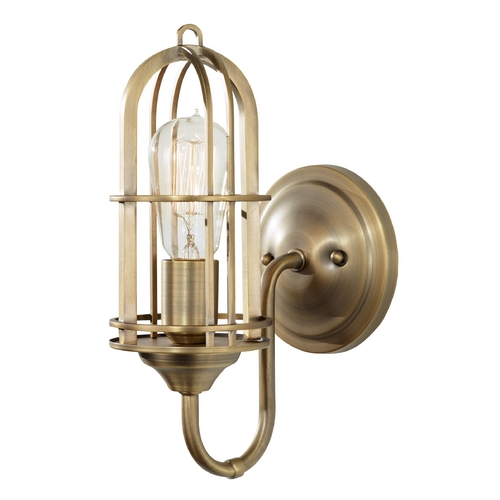 Feiss Lighting Sconce Wall Light in Dark Antique Brass Finish WB1703DAB