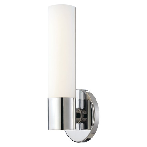 George Kovacs Lighting Modern LED Sconce Wall Light with White Glass in Chrome Finish P5041-077-L
