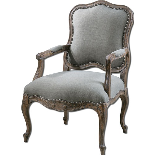 Uttermost Lighting Uttermost Willa Steel Gray Armchair 23095