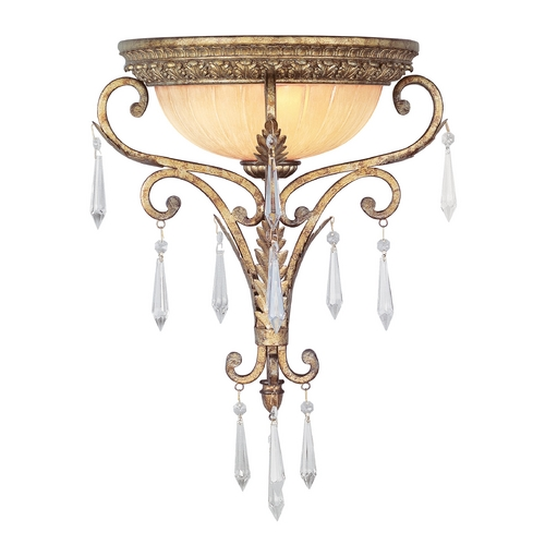 Livex Lighting Livex Lighting La Bella Vintage Gold Leaf Sconce 8810-65