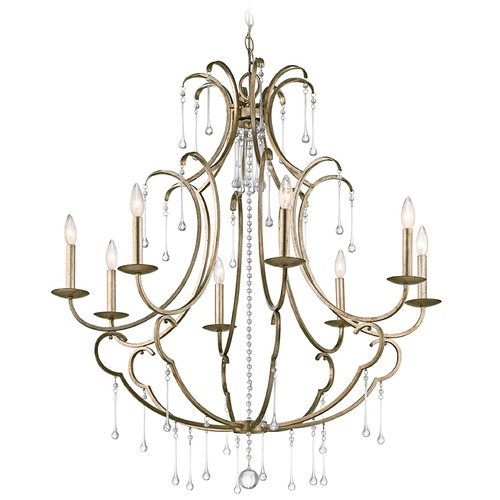 Kichler Lighting Kichler Lighting Shelsley Sterling Gold Chandelier 43621SGD
