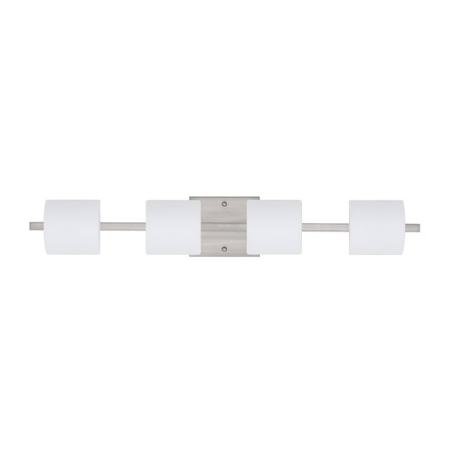 Besa Lighting Besa Lighting Paolo Satin Nickel LED Bathroom Light 4WS-787307-LED-SN