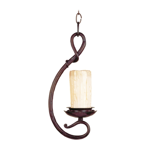 Maxim Lighting Maxim Lighting Notre Dame Oil Rubbed Bronze Mini-Pendant Light with Cylindrical Shade 91084WSOI