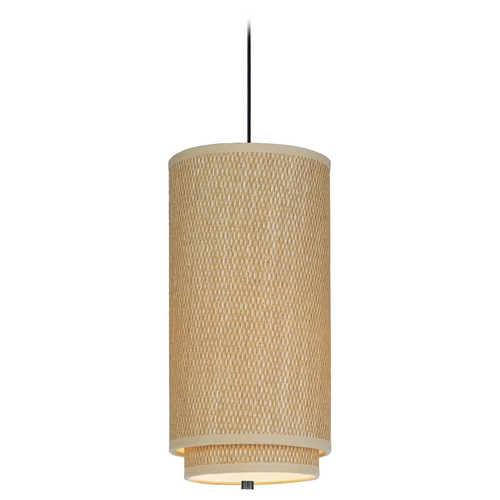 ET2 Lighting Modern Mini-Pendant Light with Brown Shade E95140-101OI