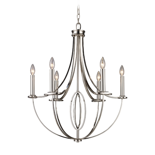 Elk Lighting Modern Chandelier in Polished Nickel Finish 10121/6