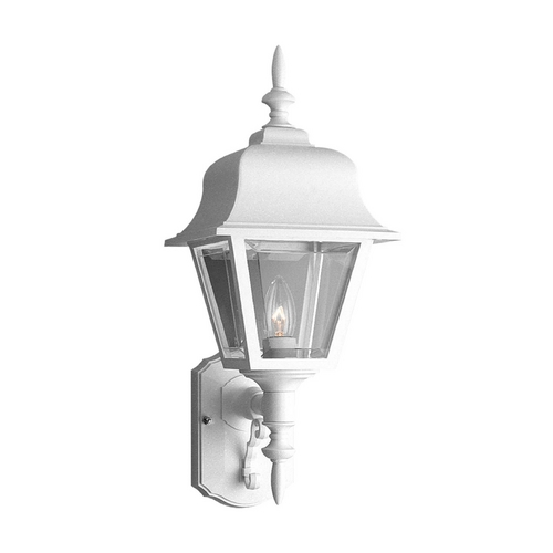 Progress Lighting Progress Outdoor Wall Light with Clear in White Finish P5656-30