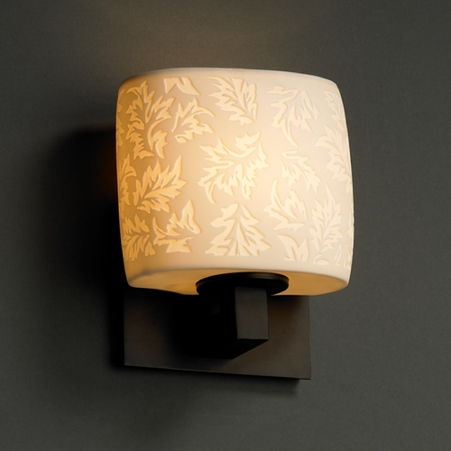 Justice Design Group Justice Design Group Limoges Collection Sconce POR-8931-30-LEAF-DBRZ
