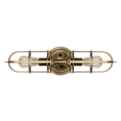 Feiss Lighting Sconce Wall Light in Dark Antique Brass Finish WB1704DAB