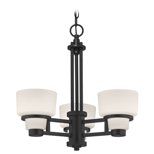 Dolan Designs Lighting Modern Chandelier with White Glass in Warm Bronze Finish 1257-46