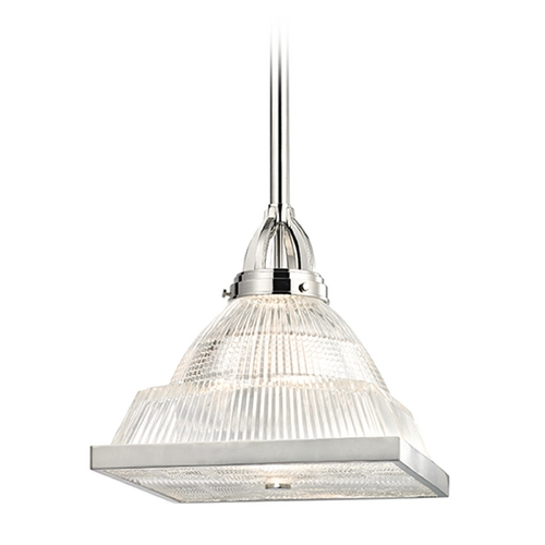 Hudson Valley Lighting Hudson Valley Lighting Harriman Polished Nickel Pendant Light with Square Shade 4414-PN