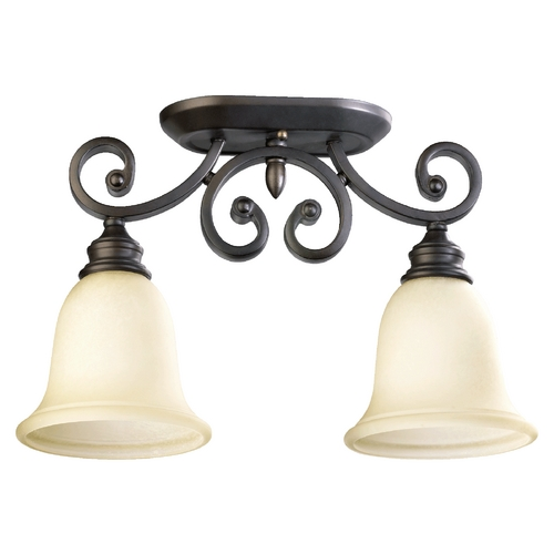Quorum Lighting Quorum Lighting Bryant Oiled Bronze Semi-Flushmount Light 3254-2-86