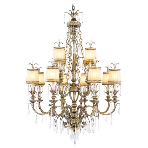 Livex Lighting Livex Lighting La Bella Vintage Gold Leaf Crystal Chandelier 8809-65
