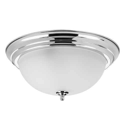Progress Lighting Progress Lighting Dome Glass Polished Chrome Flushmount Light P3926-15ET