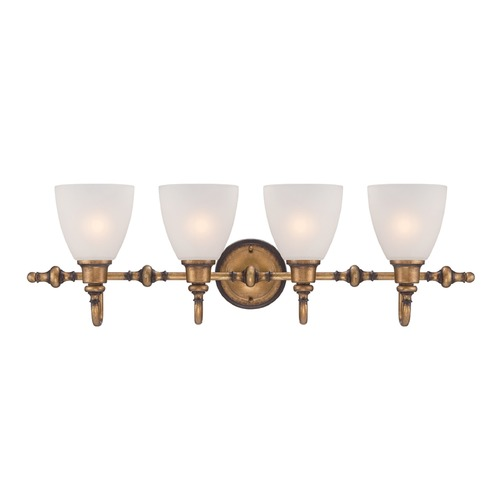 Designers Fountain Lighting Designers Fountain Isla Aged Brass Bathroom Light 85604-ABS