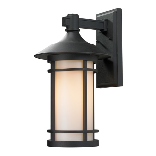 Z-Lite Z-Lite Woodland Black Outdoor Wall Light 527B-BK